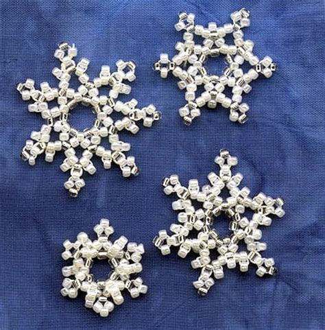 beaded snowflakes kit for beaded snowflakes with instrutions by nancy eha