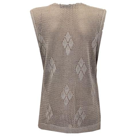 knitted waistcoats casual cardigans womens gilet knitted crochet waistcoat