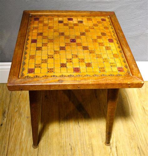 scrabble table vintage scrabble table leather top