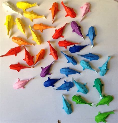 how to make origami koi fish rainbow koi 183 an origami fish 183 papercraft on cut out