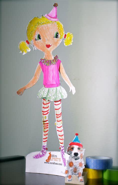 paper doll craft diy paper doll tutorial