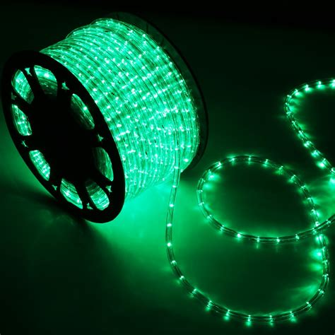 150 foot led rope light 150 green led rope light home outdoor