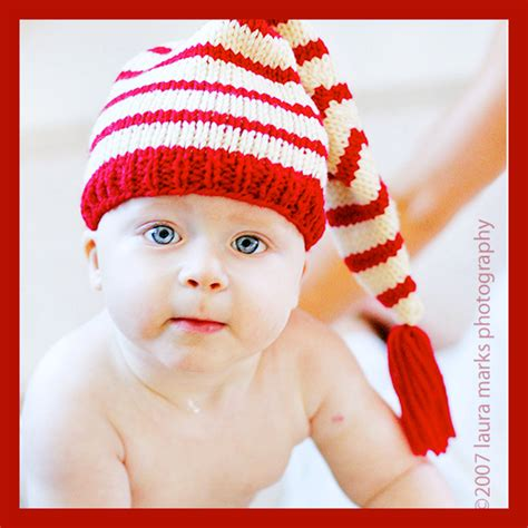 knitted santa hat for baby baby cap pattern 3 tutorials by knittingguru