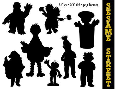 Disney Princess Wall Stickers sesame street silhouettes big bird elmo bert ernie