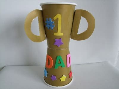 day craft preschool crafts for s day trophy cup craft 1