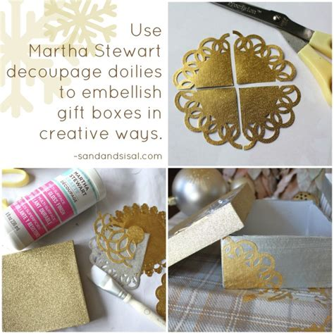 martha stewart decoupage decorative decoupage gift boxes sand and sisal