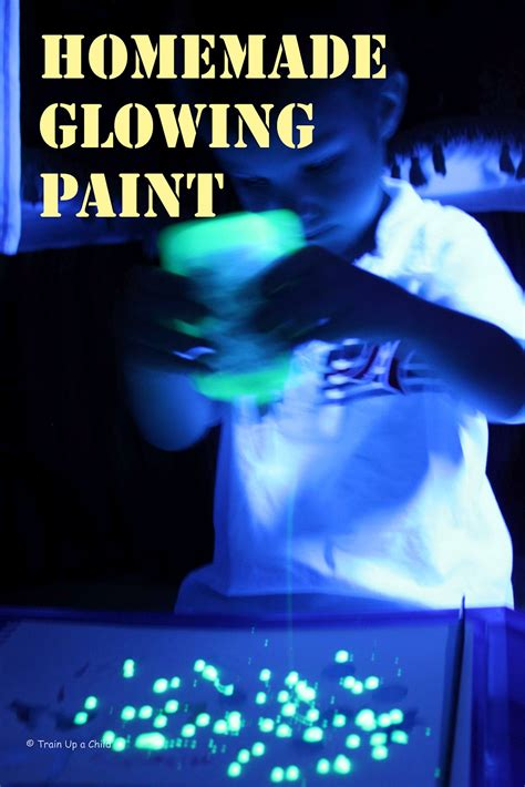 how to make glow in the paint glowing paint learn play imagine