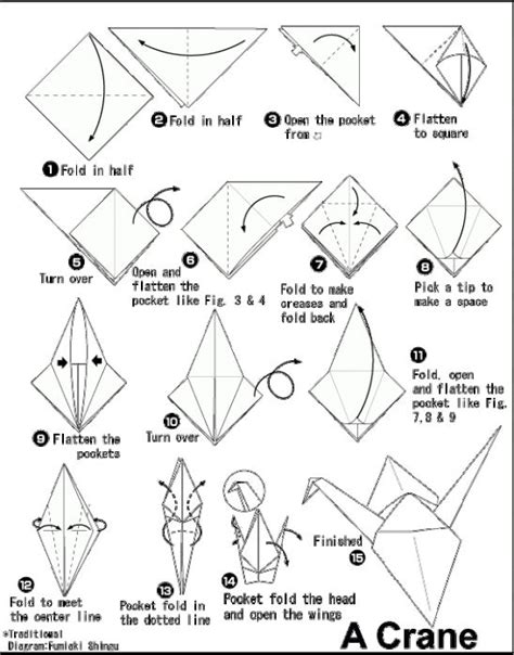 origami easy crane 11 best origami patterns images on diy paper