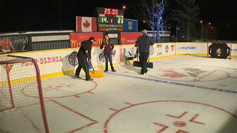 Kitchen Island Calgary backyard hockey rink is labour of love for leduc couple