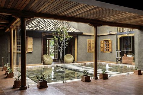 courtyard home modern rustic loma house in ecuador by iv 225 n andr 233 s quizhpe