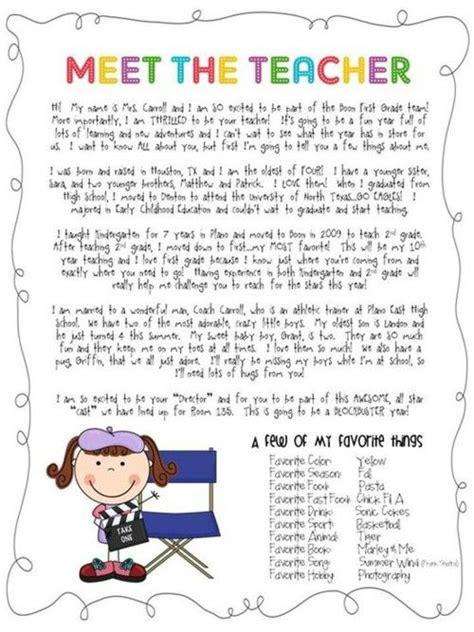 meet the teacher letter example to do pinterest