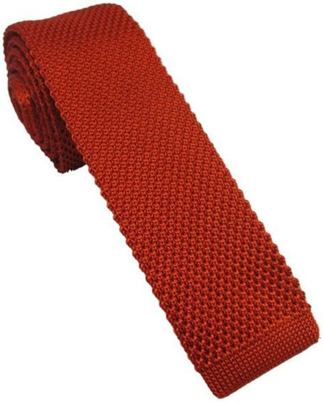 knitted orange tie burnt orange silk knitted tie with free and fast