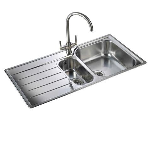 stainless steel sink for kitchen rangemaster oakland ol9852 stainless steel sink kitchen