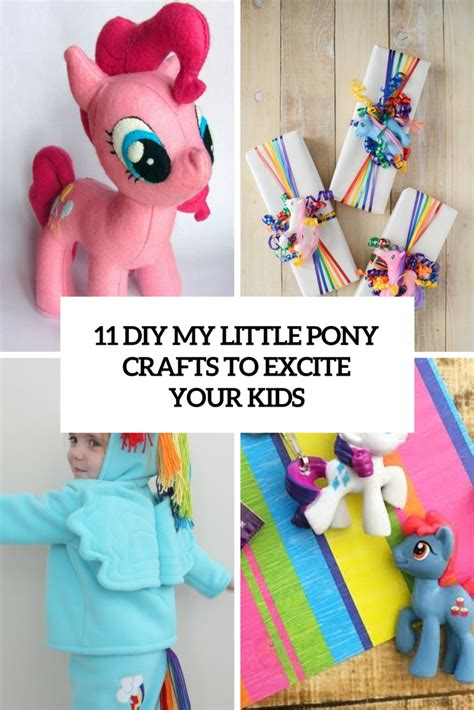 crafts with pony 11 diy my pony crafts to excite your shelterness