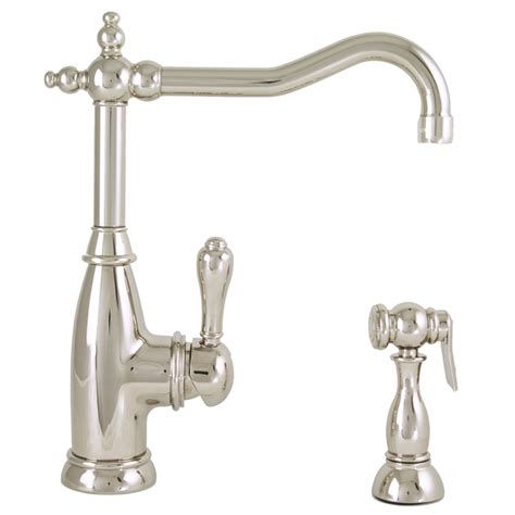 polished nickel kitchen faucets shop mico designs polished nickel 1 handle high arc kitchen faucet at lowes