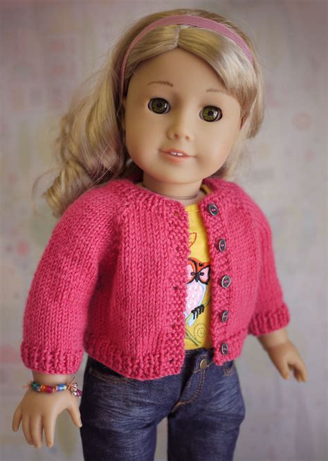 cardigan free knitting pattern free knitting patterns for american doll