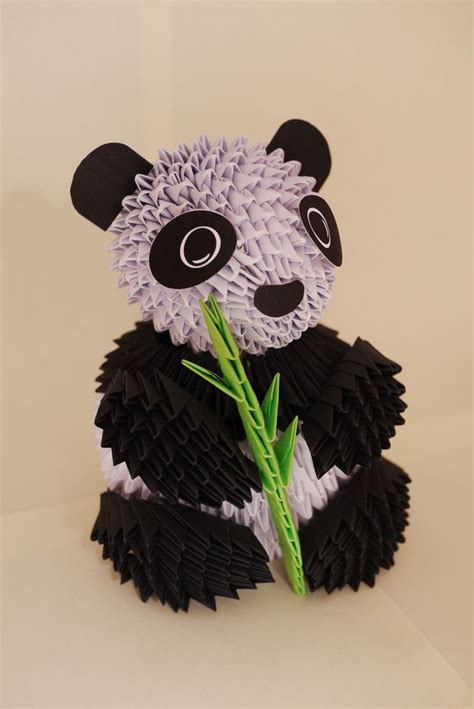 3d origami panda 25 best ideas about 3d origami on modular