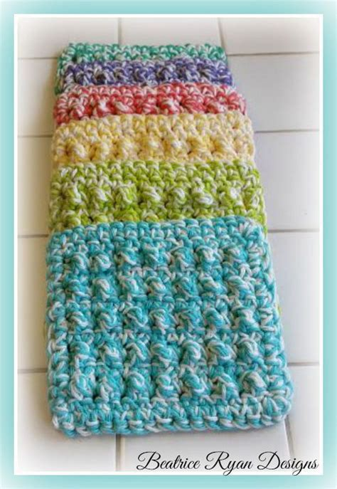 how to knit a scrubby crochet knitted dishcloth patterns hative