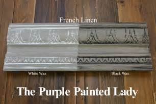 chalk paint white wax the purple painted two coats of linen chalk