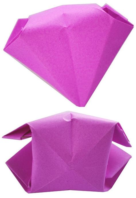 origami gem origami diamonds 183 how to fold an origami gem 183 other on