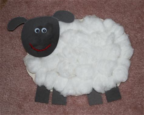 sheep crafts for easter wool craft munchkins and