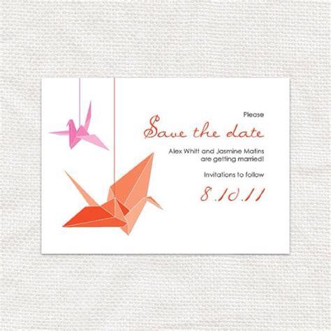 origami invitation origami crane wedding invitations wedding things