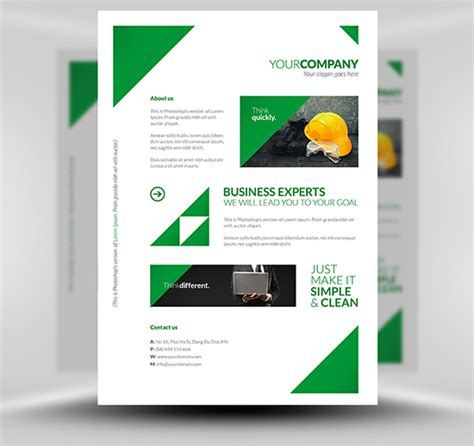flyer template free free clean corporate a4 flyer poster template