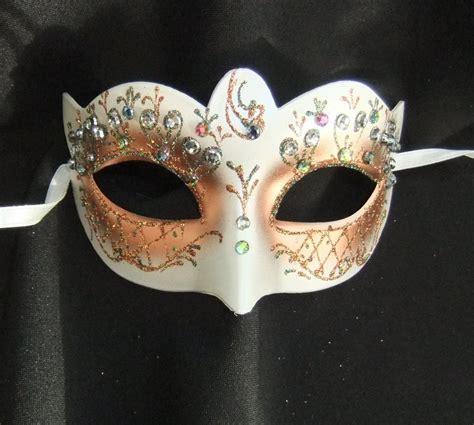 flower mask pretty gold jewelled flower mask