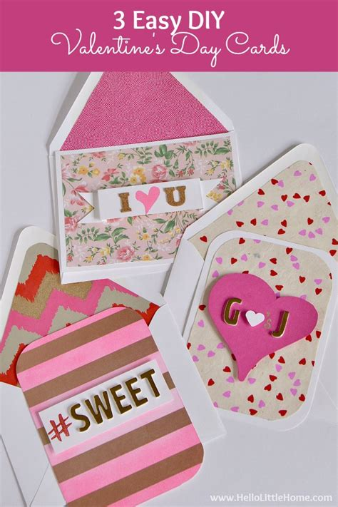 easy to make valentines cards 3 easy diy s day cards hello home