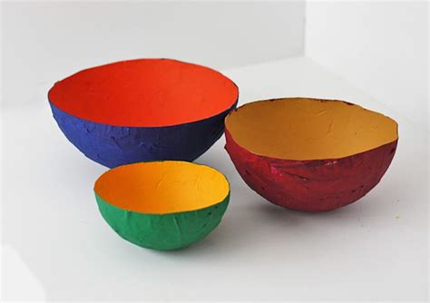 paper bowl crafts paper mache bowls for the crafts by amanda