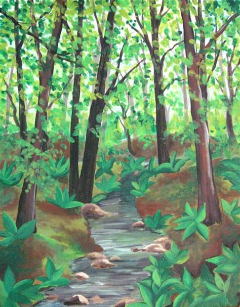 acrylic painting forest tutorial pin by ginny carey on painting