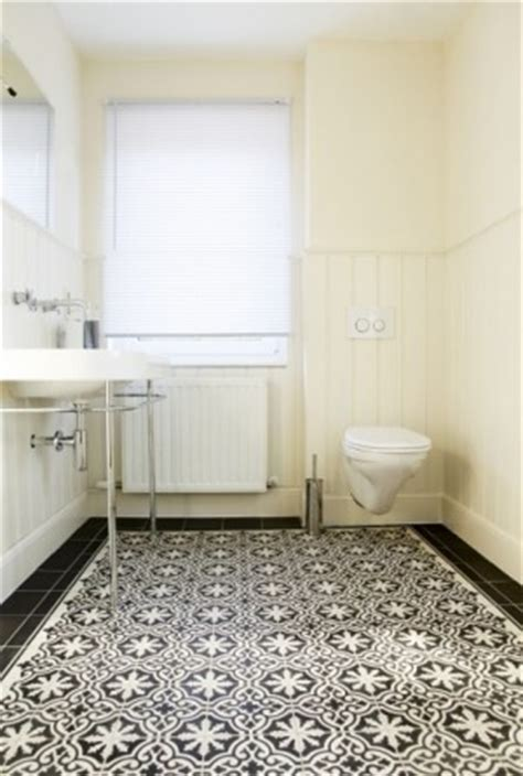 Black And White Bath Rug 21 bold patterned tile floors with punch designed