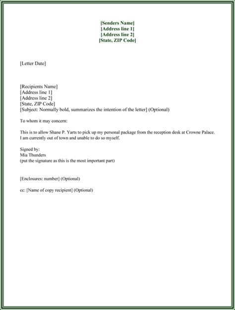 authorization letter sample to act on behalf the best