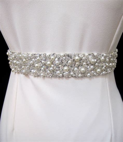 beaded bridal belt jeweled belt bridal sash pearl rhinestone wedding