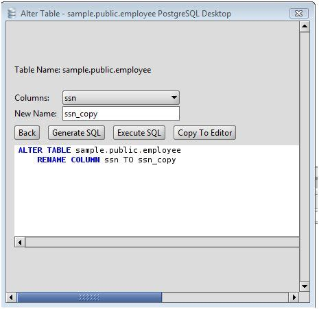 sql query to change table name change table name mysql mysql alter table javatpoint