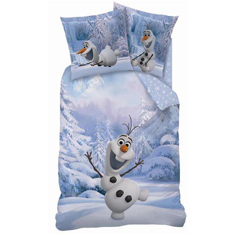 frozen reine des neiges parure de lit housse de couette 140 x 200 cm olaf snowman plc