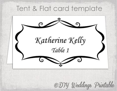 how to make place cards on microsoft word place card template tent and flat name card templates