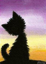 simple cat painting pictures thousands of ideas about drawing sunset on