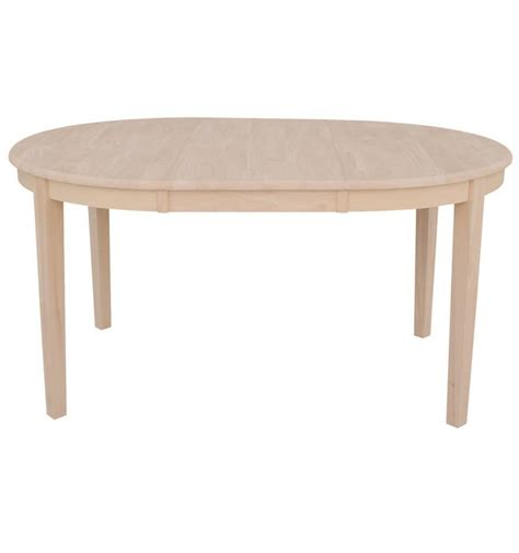 60 inch shaker oval butterfly dining table bare wood