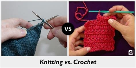 difference between crochet and knitting difference between knitting and crochet