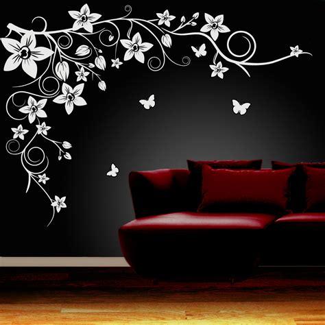 best wall stickers butterfly vine flower wall stickers vinyl decals