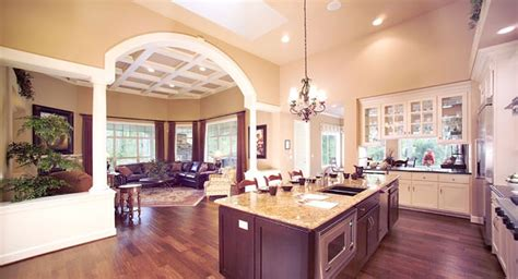 open house floor plans with pictures one story house plans with gourmet kitchen home deco plans