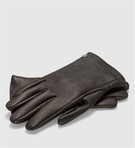 brown leather gloves mens gucci s leather gloves in brown for lyst