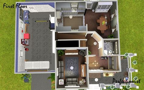 sims 3 4 bedroom house design mod the sims 3 bedroom green country style house ts3