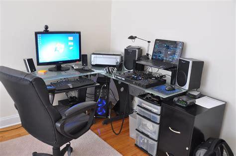 l shaped desk gaming setup image gallery l shaped gaming desk