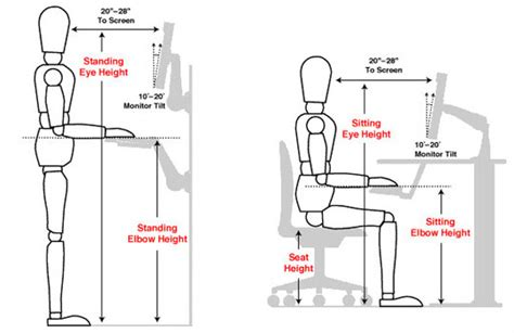 computer desk ergonomics measurements standing about info and reviews about sit stand and