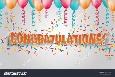 vector illustration 3d text congratulations confetti stock