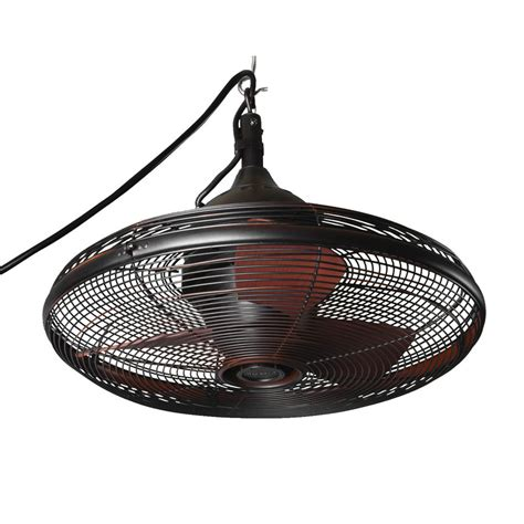 commercial outdoor ceiling fans shop allen roth valdosta 20 in rubbed bronze downrod