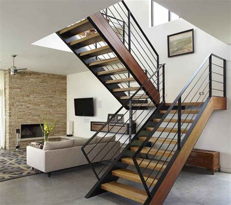 modern woodwork modern wood stair railings home design by larizza