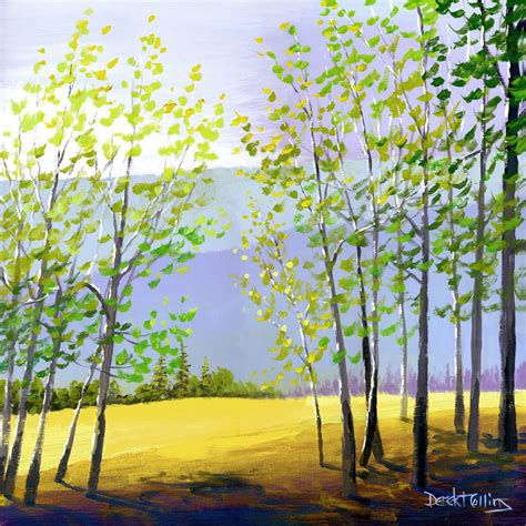 acrylic painting of trees tree painting print acrylic painting of the forest by